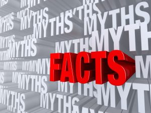 Myth vs facts word art