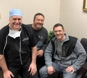 The brothers with their favorite LASIK Surgeon